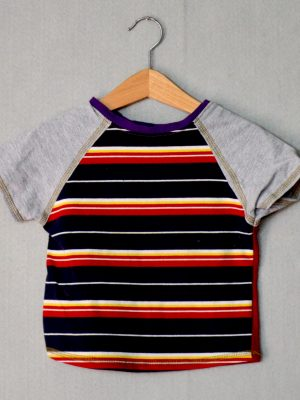 Retro Stripe Go Kiddo Tee - S