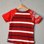 Blue & Red Stripe Go Kiddo Tee - M