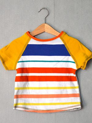 Playful Stripes Go Kiddo Tee - S