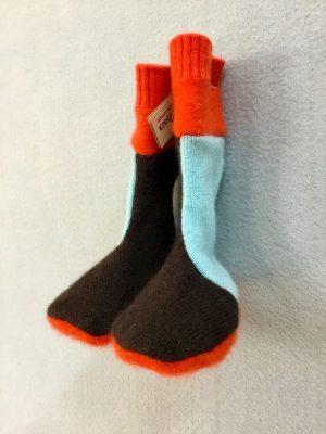 BABY BOOTIES - BLUE,BROWN&ORANGE
