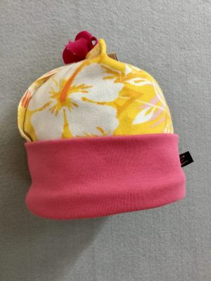COTTON BABY HAT - YELLOWnPINK