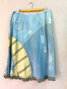 Indigo and Tan 8 Piece Skirt - XL