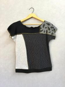 Gray Feather Block Party Top - M