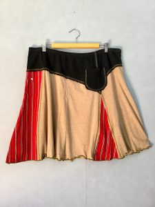 Black and Tan OFFICE SKIRT - XL