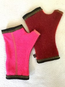 CASHMERE (CM) GLOVES - pink/orange