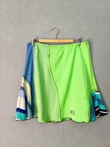 Lime Green SWISH SKIRT - L