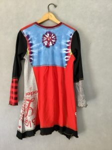 Red Ice Skating ORIG TUNIC Long Slv - S