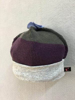 COTTON BABY HAT - PURPLEnGRAY