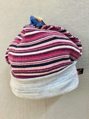 COTTON BABY HAT - PINK STRIPE