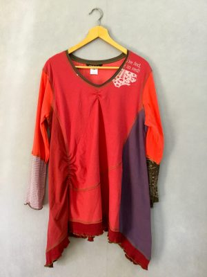 You're Fed in Red ORIG TUNIC Long Slv - XL