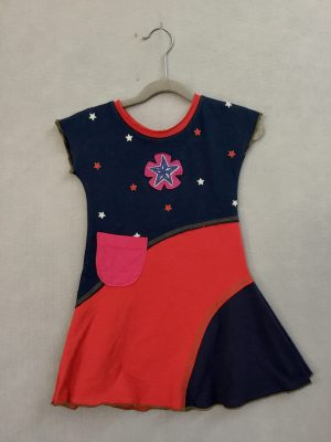 Red-White-Blue and Pink! GIRLS DRESS - S