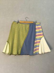 Pastel Stripe SWISH SKIRT - XL