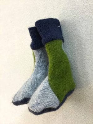 BABY BOOTIES - BLUEnGRASSY GREEN