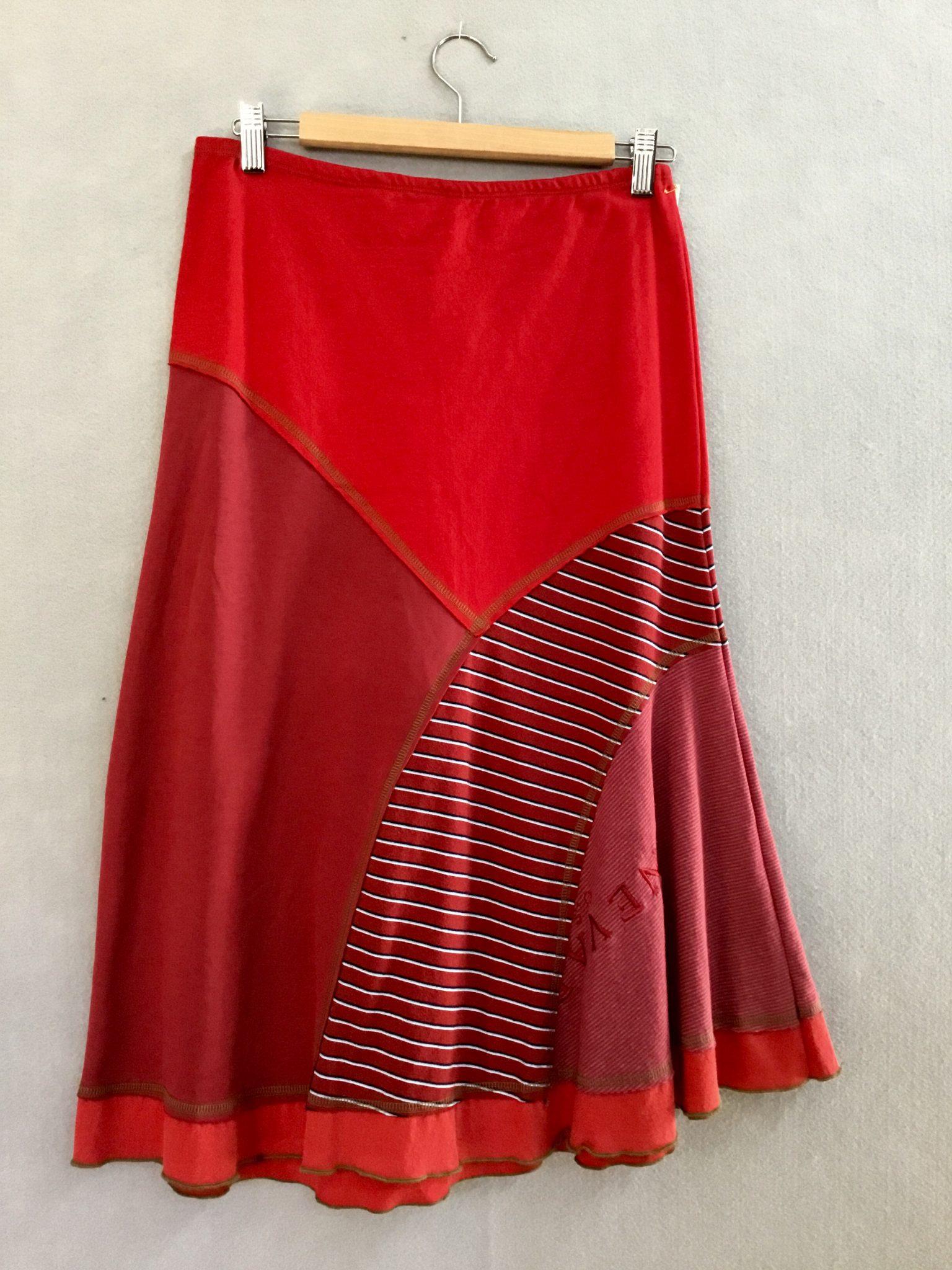 RED STRIPE 8 Piece Skirt - XS