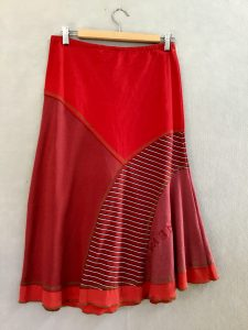 RED STRIPE 8 Piece Skirt - XS
