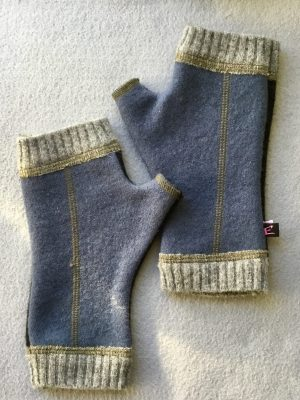 MENS WOOLY GLOVES - Blue