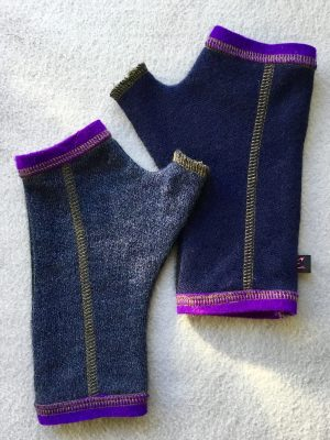 CASHMERE (CM) GLOVES - Blue and Purple