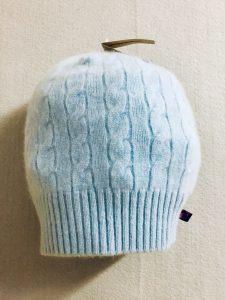 CASHMERE SLOUCH HAT - light blue