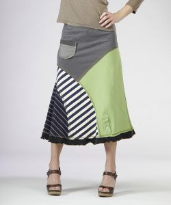 Indigo and Tan 8 Piece Skirt - XL