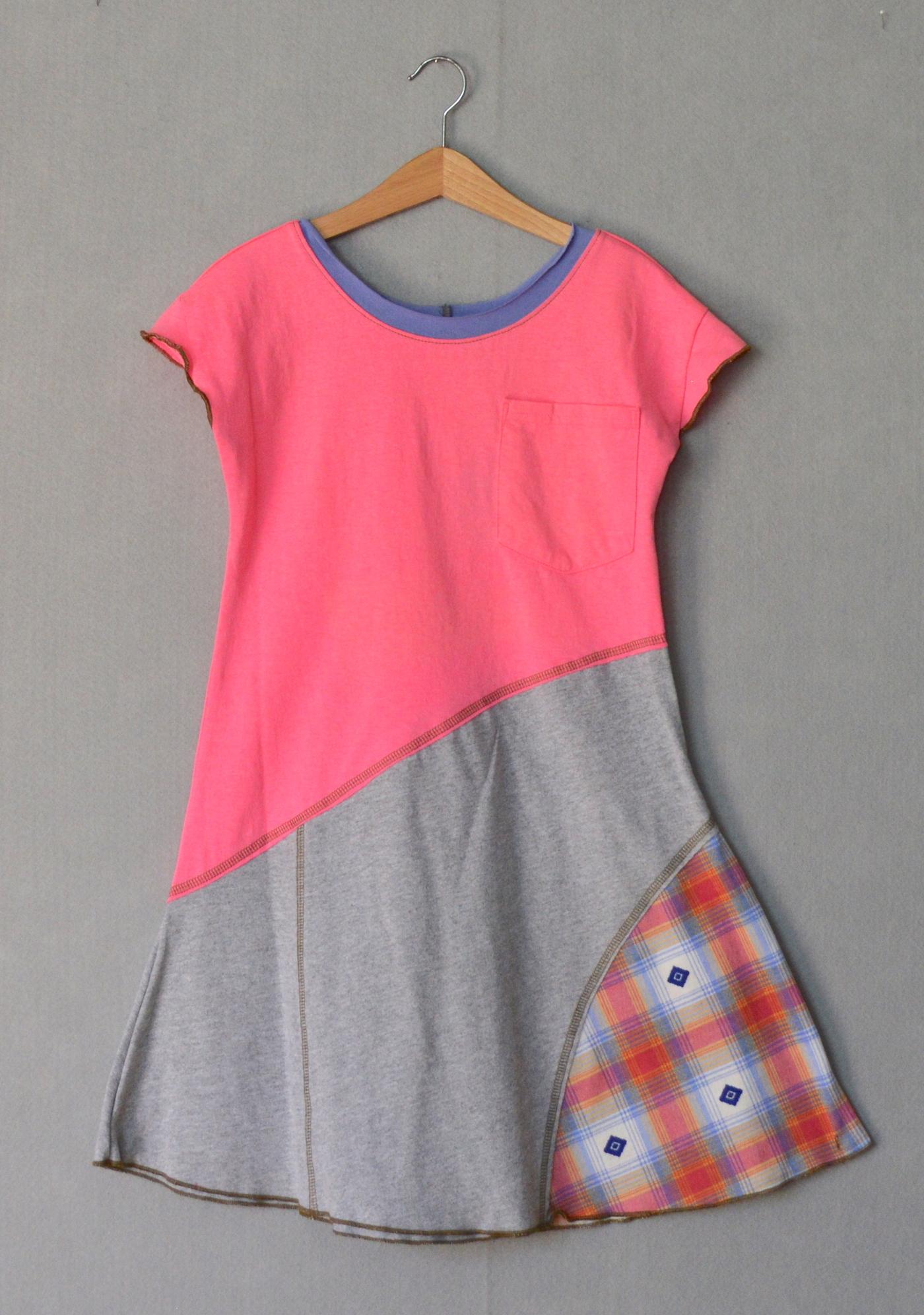 Pink & Gray Girls Dress - L