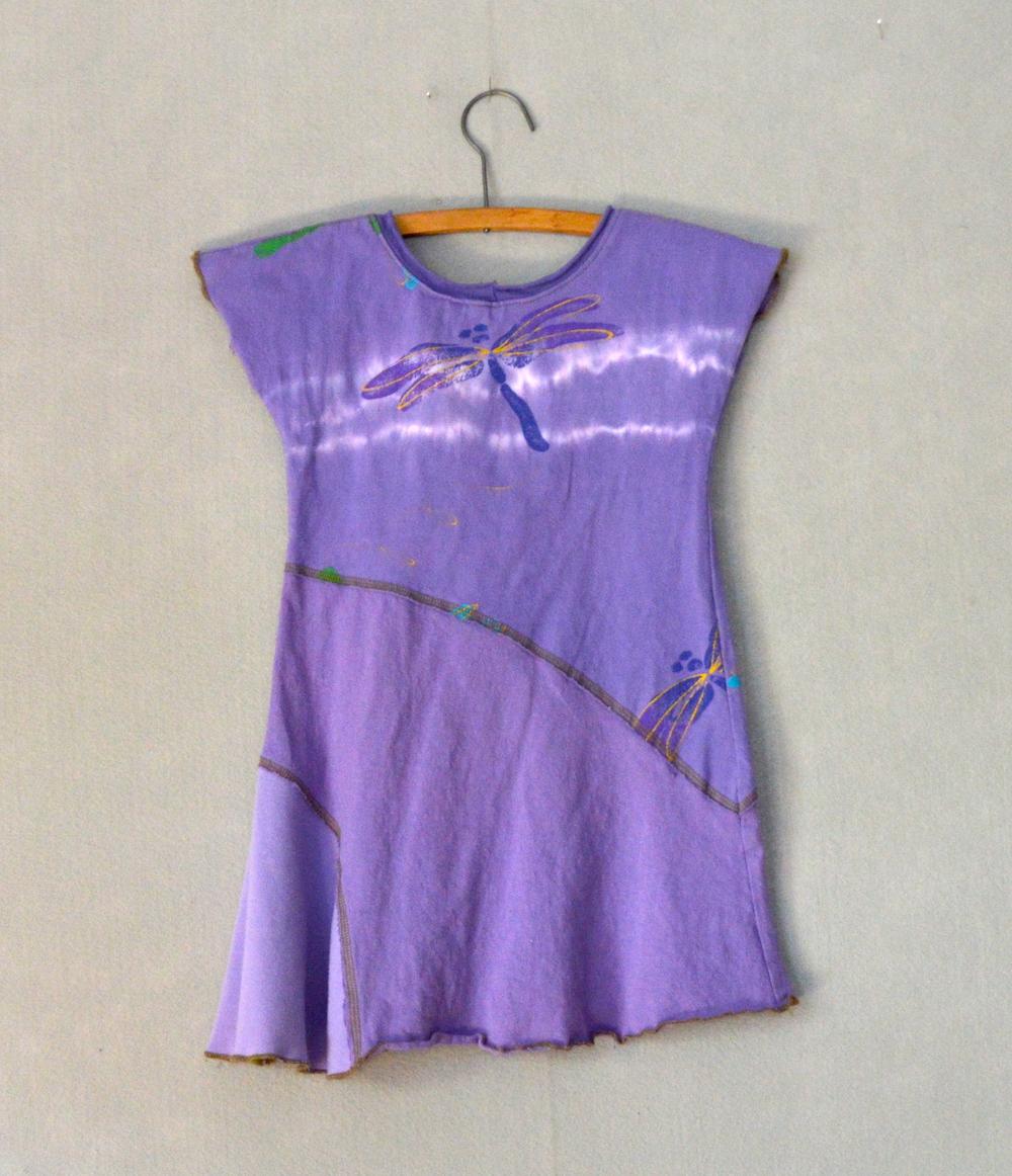 Purple Dragonfly Girls Dress - M