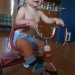 BABY HAT & BOOTIES SET - Purple, blue, tan