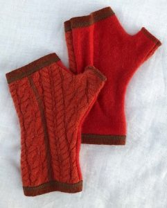 CASHMERE (CM) GLOVES - orange